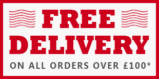 Free Delivery on orders over £100 - See T&C's for details